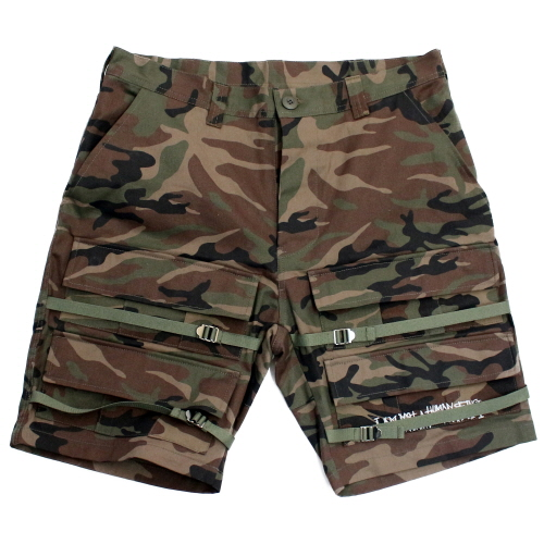 [17SS] Basic Logo Front Pocket Shorts - Camo