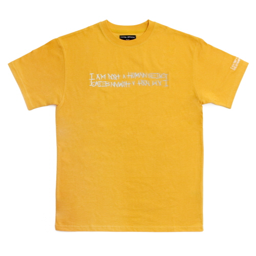 Retro Reflective Basic Logo T-Shirts - Mustard