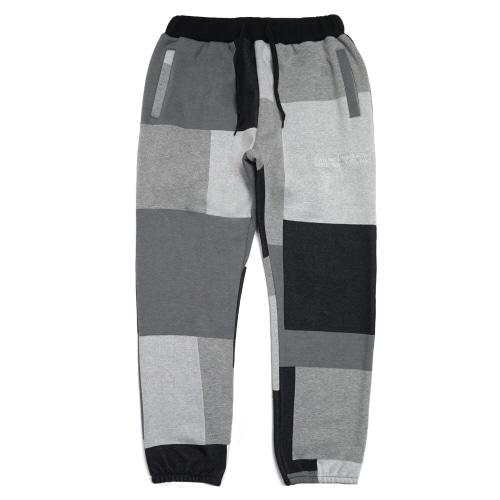 [17W] Patch Work Sweat Pant  - Achromatic Color