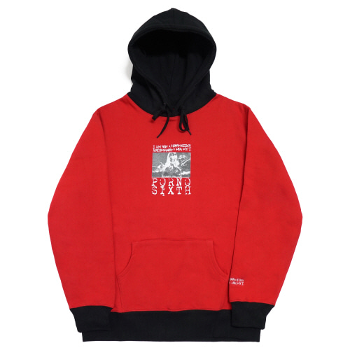 [17W] Porno 6 ver.2 Hoodie - Red