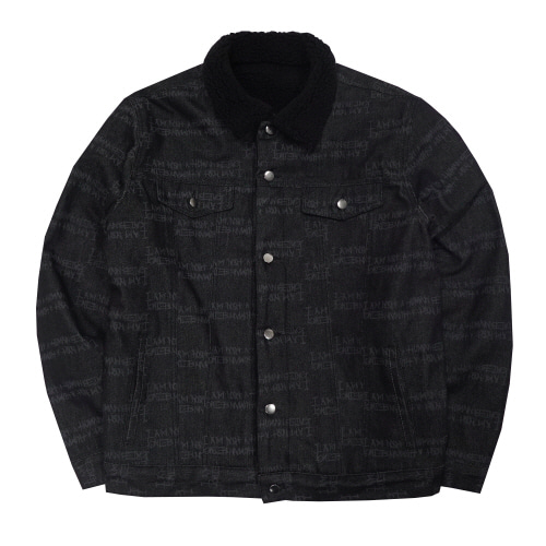 [아임낫어휴먼비잉] AUTOGRAPH DENIM SHERPA JACKET - O/C