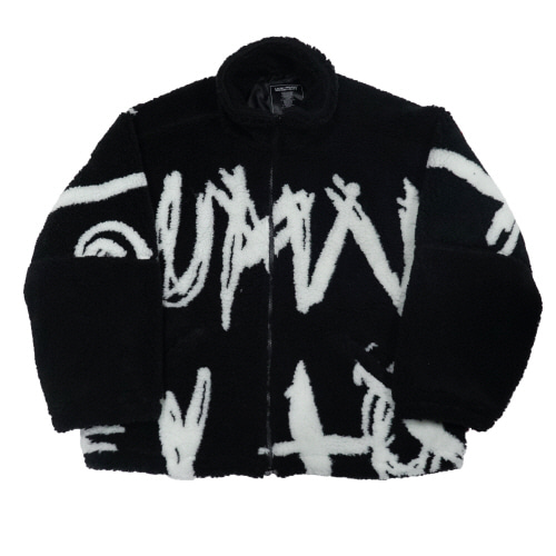 [18FW] BIG SPELL BOA FLEECE JACKET - BLACK