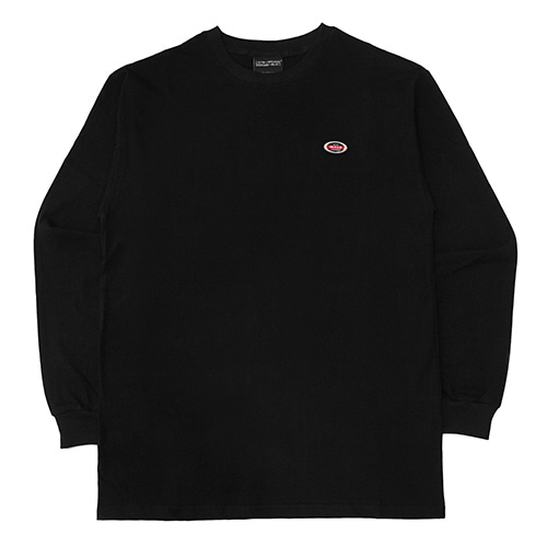 [18FW] OVAL LONG SLEEVE T SHIRTS - BLACK