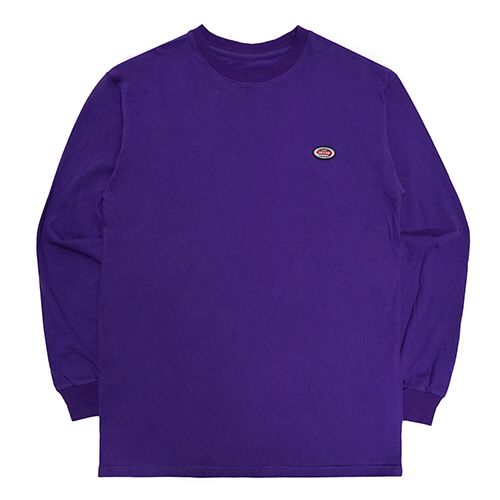 [18FW] OVAL LONG SLEEVE T SHIRTS - PURPLE
