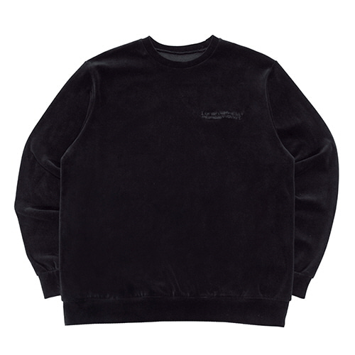 [18FW] BASIC VELOUR CREWNECK SWEATSHIRTS - BLACK