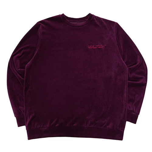[18FW] BASIC VELOUR CREWNECK SWEATSHIRTS - PURPLE