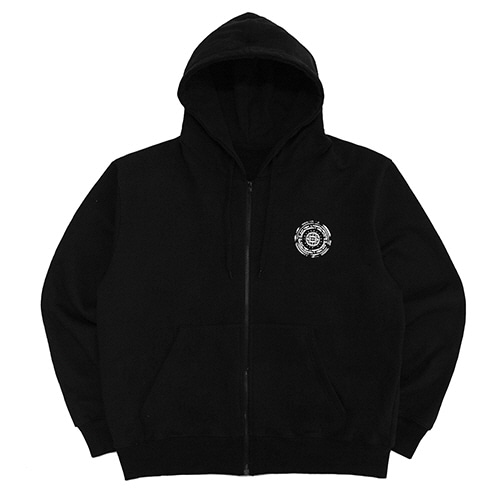 [18FW] OFFICIAL SEALED ZIP-UP HOODIE - BLACK/WHITE
