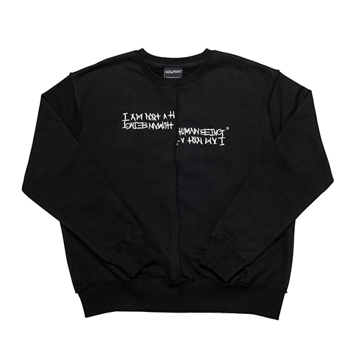 [18FW] UNBALANCED CREWNECK SWEATSHIRTS - BLACK