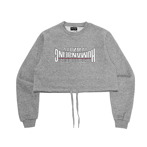 [18FW] ARCH LOGO CROP SWEAT SHIRT - GREY
