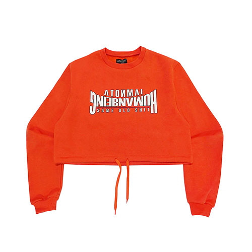 [18FW] ARCH LOGO CROP SWEAT SHIRT - ORANGE