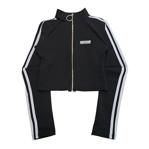 [18FW] LOGO MOK NECK ZIP-UP JACKET - BLACK