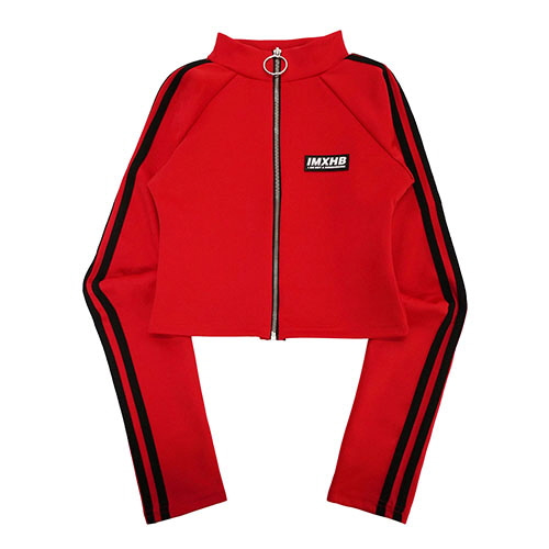 [18FW] LOGO MOK NECK ZIP-UP JACKET - RED