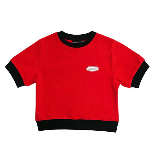 [18FW] HOLOGRAM CROP T SHIRT - RED
