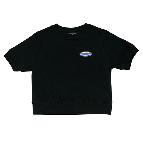 [18FW] HOLOGRAM CROP T SHIRT - BLACK