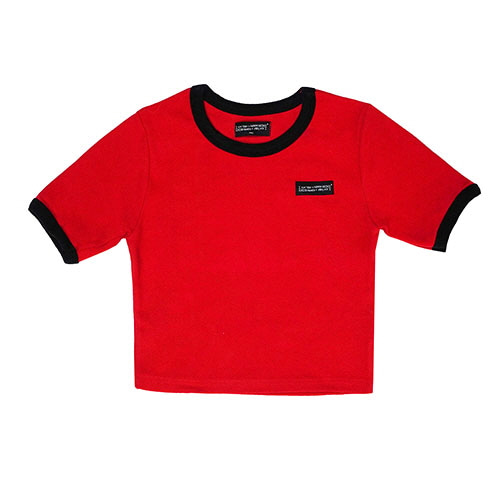 [18FW] LOGO CROP T SHIRT - RED