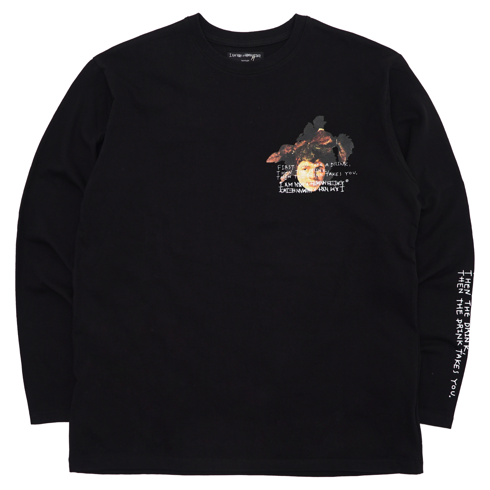 [18SS] THE DRINK TAKES YOU L/S T-SHIRT - BLACK