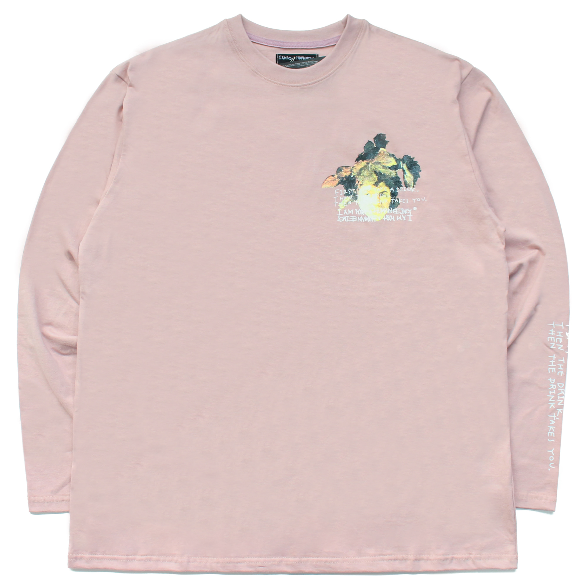 [18SS] THE DRINK TAKES YOU L/S T-SHIRT - PINK