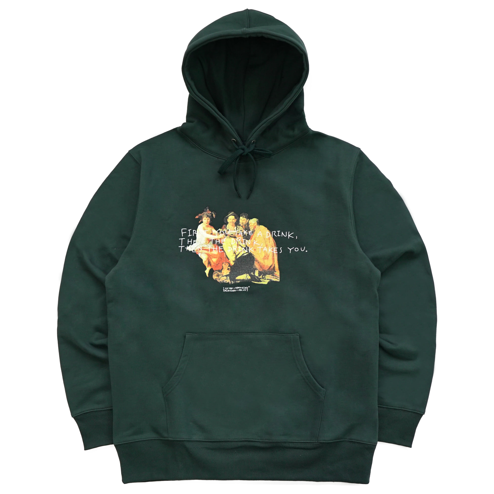 [18SS] THE DRINK TAKES YOU HOODIE - DARK GREEN