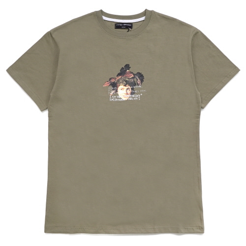 [18SS] THE DRINK TAKES YOU T-SHIRT - OLIVE GREEN