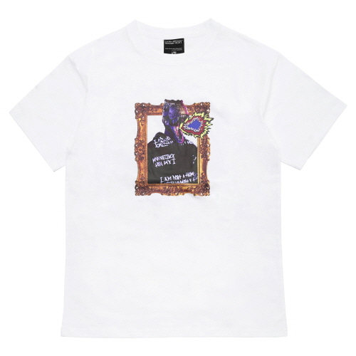 [18SS] DINO'S PORTRAIT T-SHIRT - WHITE