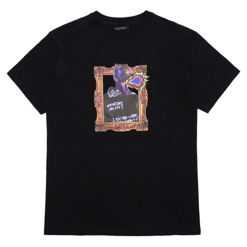 [18SS] DINO'S PORTRAIT T-SHIRT - BLACK