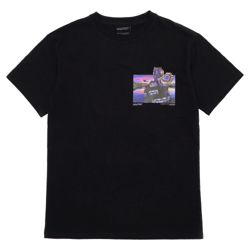 [18SS] DINO'S SELFIE T-SHIRT - BLACK