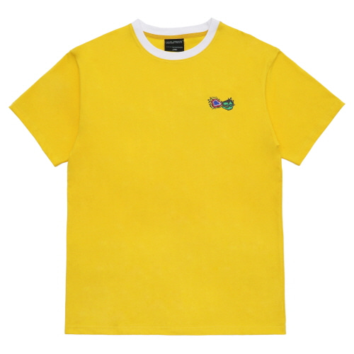 [18SS] FIRE CRACKER LOGO T-SHIRT - YELLOW