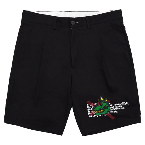 [18SS] NOT A HUMANBEING SHORTS - BLACK