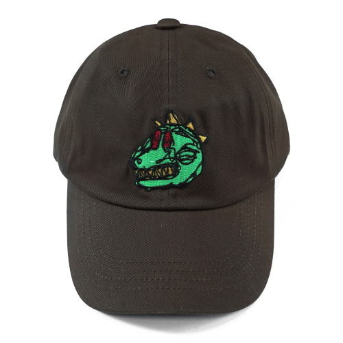[18SS] DINO BALL CAP - DARK BROWN
