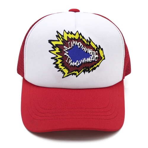 [18SS] FIRE CRACKER LOGO MESH CAP - RED