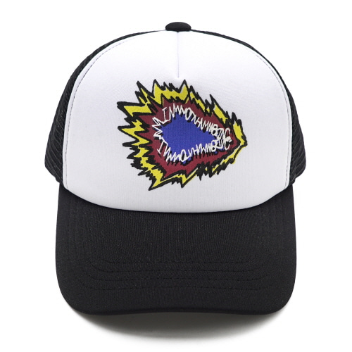 [18SS] FIRE CRACKER LOGO MESH CAP - BLACK