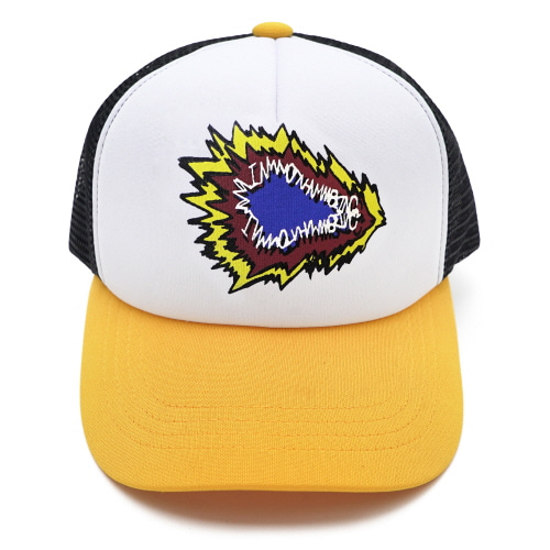 [18SS] FIRE CRACKER LOGO MESH CAP - BLACK/YELLOW
