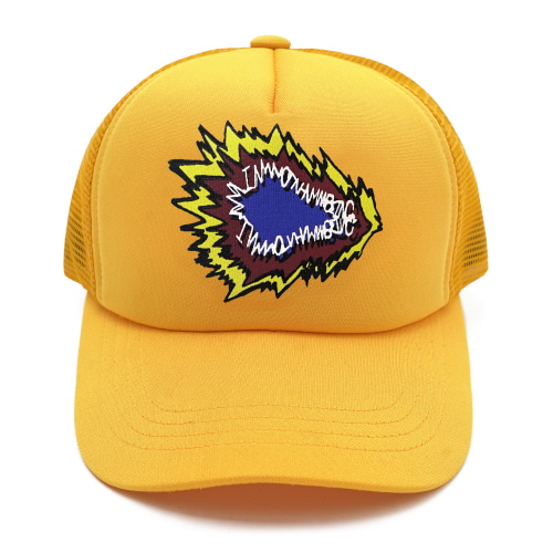 [18SS] FIRE CRACKER LOGO MESH CAP - YELLOW