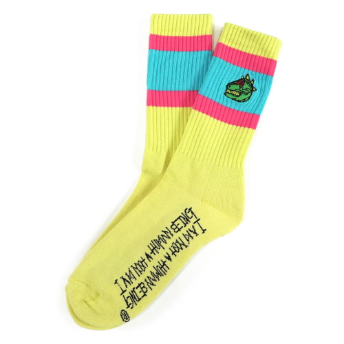 [18SS] DINO LOGO SOCKS - LEMON YELLOW