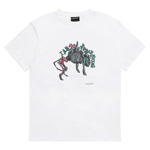 [18SS] DINOS BONE T-SHIRT - WHITE