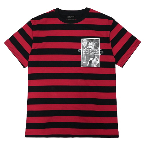 [18SS] MADNESS PHOTO T-SHIRT - BLACK/RED