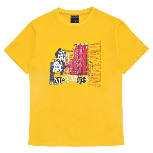 [18SS] HUMANBEING COLLAGE T-SHIRT - YELLOW