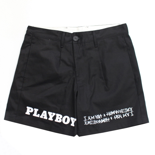 [HBXPB] Half Rabbit Head Logo Shorts - Black