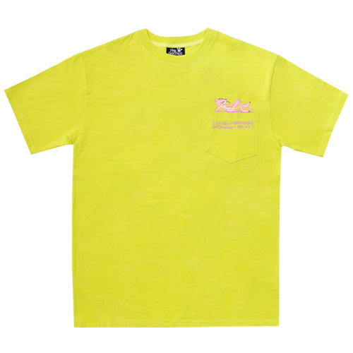 [PPXHB] Pink Panther Poket T-Shirt - Green Yellow