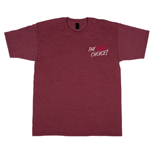 [INDEPENDENT] ONLY CHOICE S/S TEE - Burgundy