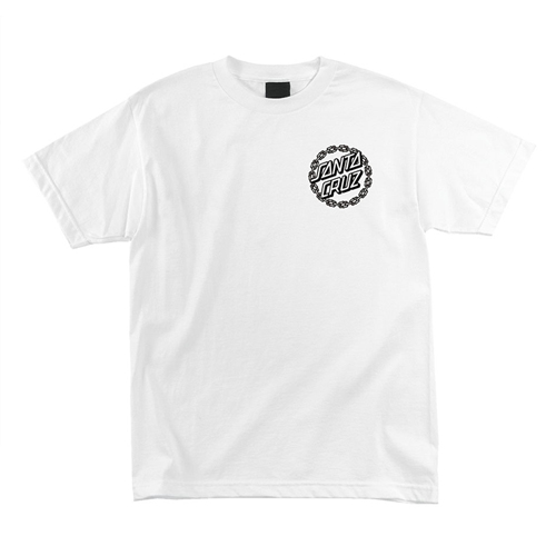 [SANTA CRUZ] CHAIN DOT S/S T-SHIRT - White