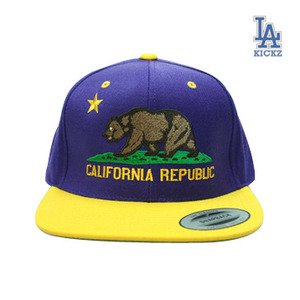 California Flag Snapback Blue/Yellow