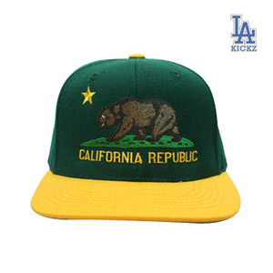 California Flag Snapback A's Color
