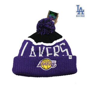 LosAngeles Lakers Pom Beanie Hat