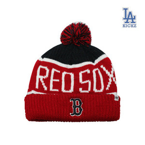 Boston Redsox Pom Beanie Hat