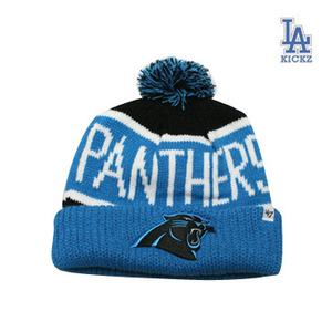 Carolina Panthers Pom Beanie Hat