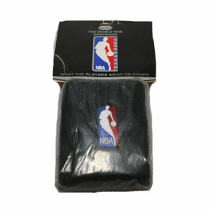 NBA Logo Man Wrist Bands Black