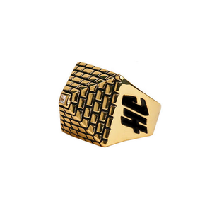 [Hancholo]Pyramid Ring for Men -Gold-