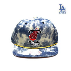Miami Heat Denim Snapback Hat