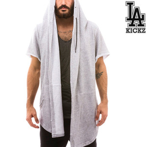 The Sado Cutoff The Sado Cut Off Hoodie features an oversized hood -Grey-